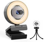 2 Ultra HD Webcam with Microphone and Ring Light